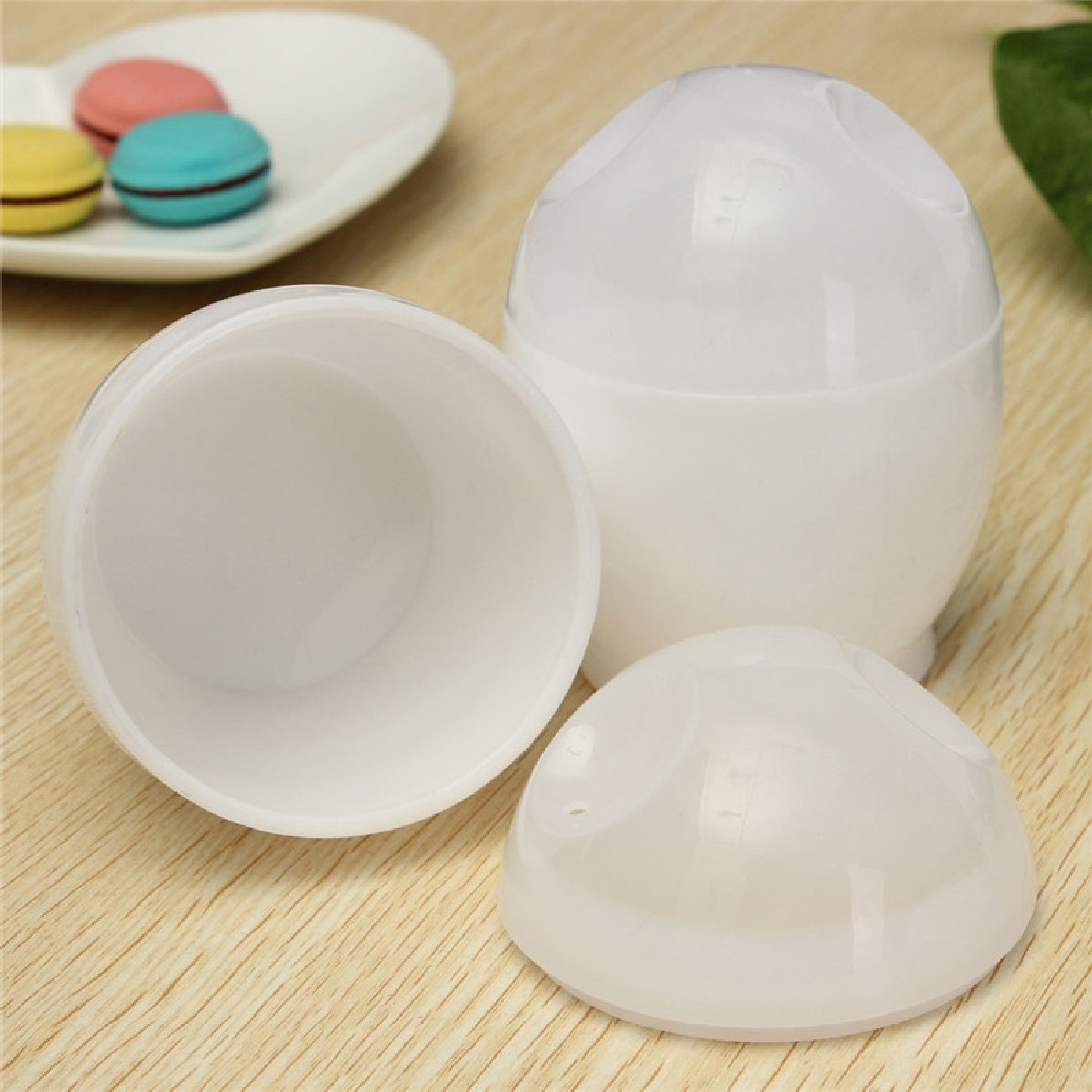 Big Sale 2016 Practical 2Pcs White Microwave Oven Cup Poacher For Various Ways Of Cooking Quick Eggs Cooker