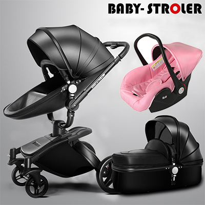 Coupon! Free Ship! Brand baby strollers 3 in 1 EU standard baby car baby carriage 0-36 months use high quality leather Aulon free 3 in 1 baby strollers light baby car sleeping basket newborn baby carriage 0 36 months europe baby pram carriage five color