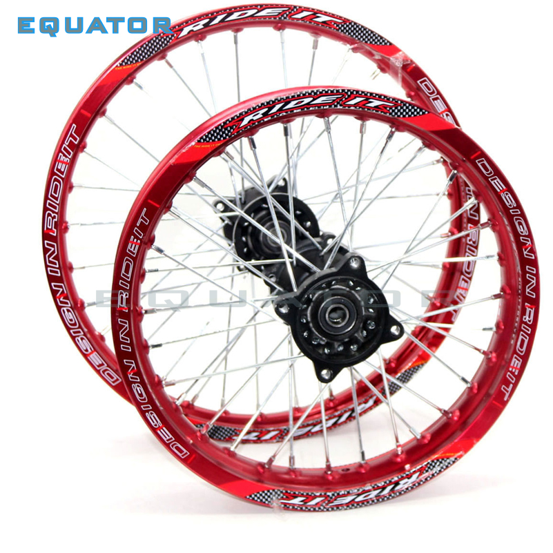12mm 15mmFront 1.40-14 inch Rear 1.85-12 inch Alloy Wheel Rim For KAYO HR-160cc TY150CC Dirt Bike Pit bike 12 14 inch wheel front 1 60 17 rear 1 85 14 inch alloy wheel rim with cnc hub for kayo hr 160cc ty150cc dirt pit bike 14 17 inch motorcycle wheel
