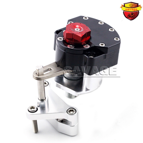NEW For YAMAHA YZF-R25 YZF-R3 YZF R25/R3 Black Motorcycle Steering Damper Stabilizer with Mounting Bracket Kit