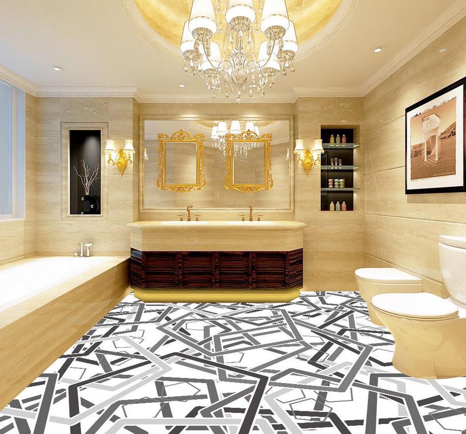 Waterproof floor mural painting living room bathroom floor - Waterproof floor paint for bathrooms ...