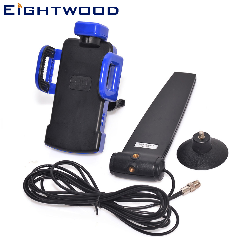 Eightwood 900/1800 MHz 12dbi GSM CDMA 3G 4G LTE Cellphone Signal Booster Amplifier Antenna +Phone Holder FME female Connector gsm 3g repeater dual band gsm 900 mhz 2100 mhz w cdma umts repetidor 3g antenna signal amplifier 2g 3g cell phone booster sets