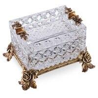 CIGARLOONG Luxus zigarre aschenbecher Europäischen stil Österreichischen kristall aschenbecher kupfer carving FH01 1232|Aschenbecher|Heim und Garten -
