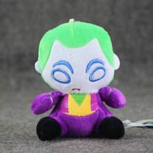 10 Cm Batman The Dark Knight Joker Knuffel Q Versie Joker Pluche Hanger Sleutelhanger Karakter(China)