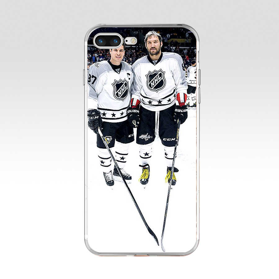 182FG Ice Hockey Alexander Ovechkin Sidney Crosby Soft TPU Silicone Cover Case For Apple iPhone5 5s se 6 6s 7 8 plus x xr xs max