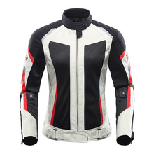 Women Motorcycle Jacket Suit Moto Breathable Mesh Touring Motorbike Clothing Jackets Protective Gear