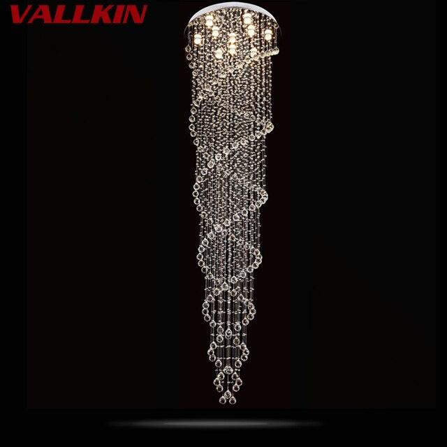 Kronleuchter FÜHRTE Moderne Wohnzimmer Lampen Kristall Kronleuchter Led  Lampe Treppe Beleuchtung Klaren Kristall Spirale Kronleuchter Hause