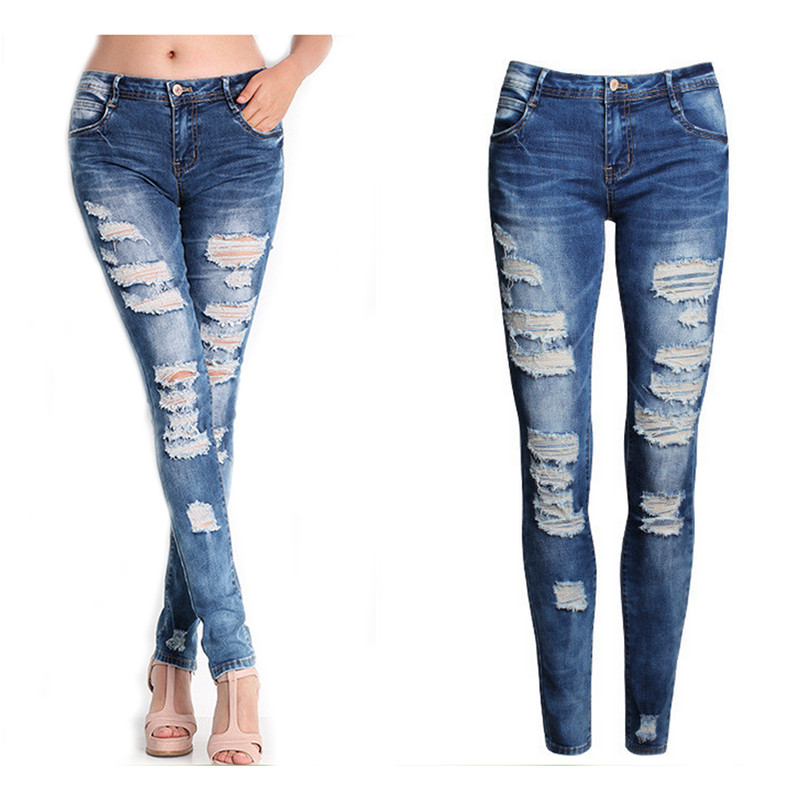 New Sexy Women Denim soft and comfortable Skinny Pants High Waist Stretch   Jeans   L50/0130