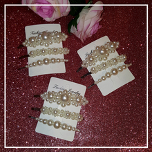 Handmade Hair Clips Full Pearls Hairclip Girls Bobby Pins/Hairgrip/Hairslide Hot Fashion Accessories 3pcs/set