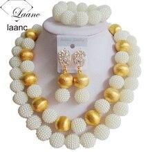 Nigerian Beads White African Jewelry Set