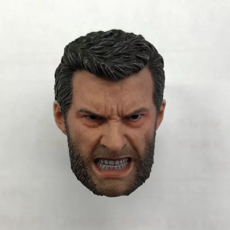 1//6 Man Head Wolverine Hugh Jackman Carving Sculpt Old Logan F Action Figure