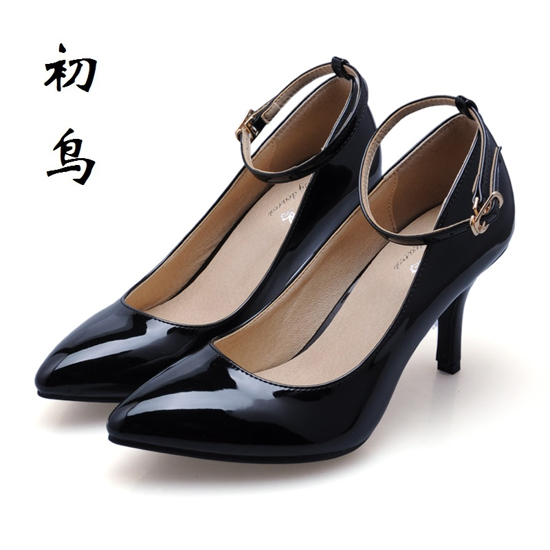 2017 Size 33-41 Fashion Black Sexy High Heels Women Pumps Buckle Ladies Shoes Woman Chaussure Femme Talon Mariage White 34 40 2017 small size 31 43 fashion simple sexy high heels women pumps ladies office shoes woman chaussure femme talon mariage 32 33