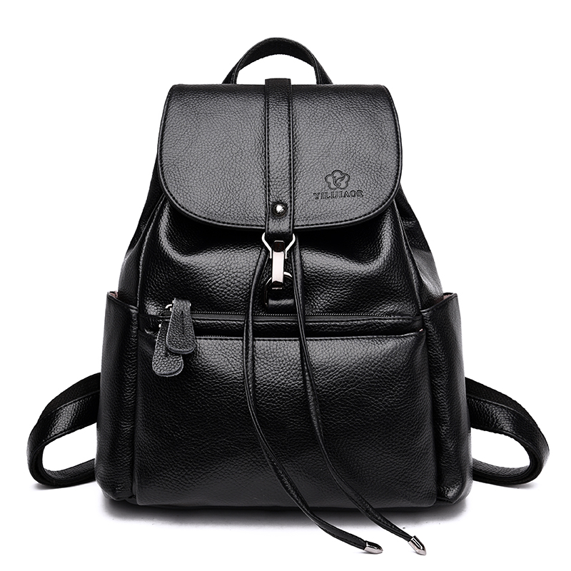 Fashion Women Backpack Female High Quality PU Leather Mochila Escolar Shoulder School Bags for Teenagers Girls Women Backpacks women backpack high quality pu leather mochila escolar school bags for teenagers girls top handle backpacks herald fashion page 5