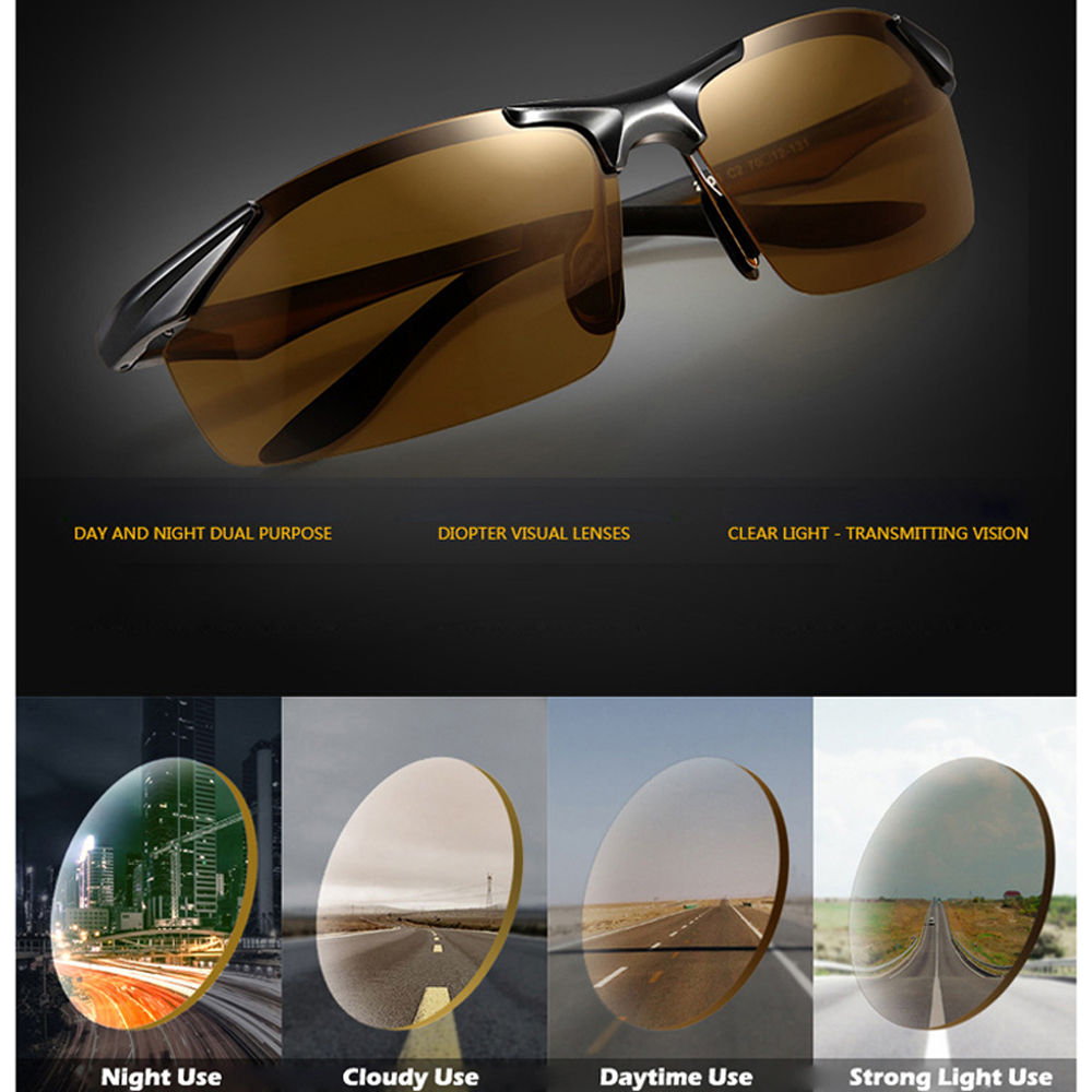 Image 5 - 2019 Day Night Photochromic Polarized Sunglasses Men's Sunglasses for Drivers Male Safety Driving Fishing UV400 Sun Glasses-in Men's Sunglasses from Apparel Accessories