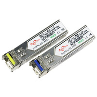1 pair 10G 10km LC connector gbic single mode single fiber SFP+ module WDM/BIDI 10G 10KM A/B 1270/1330nm