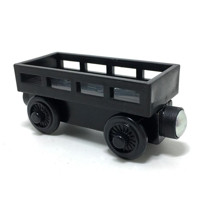w17 Fa játék vonat mágneses Fa színes fekete kocsi Szállítás járművek gyermek / gyermek karácsonyi ajándék