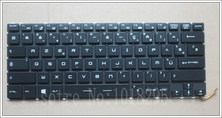 NEW French Laptop Keyboard For for MSI Steelseries GS43 GS40 GS40-6QE81FD GS43VR FR Keyboard Backlit new japan laptop keyboard for for msi steelseries gs43 gs40 gs40 6qe81fd gs43vr jp keyboard backlit