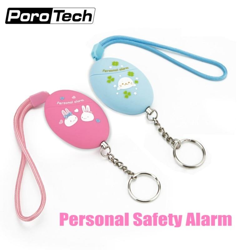Lovely Cartoon Printed Keychain Alarm 120DB Emergency Self Defense Personal Alarm Anti-wolf Alarm For Women Girls Kids