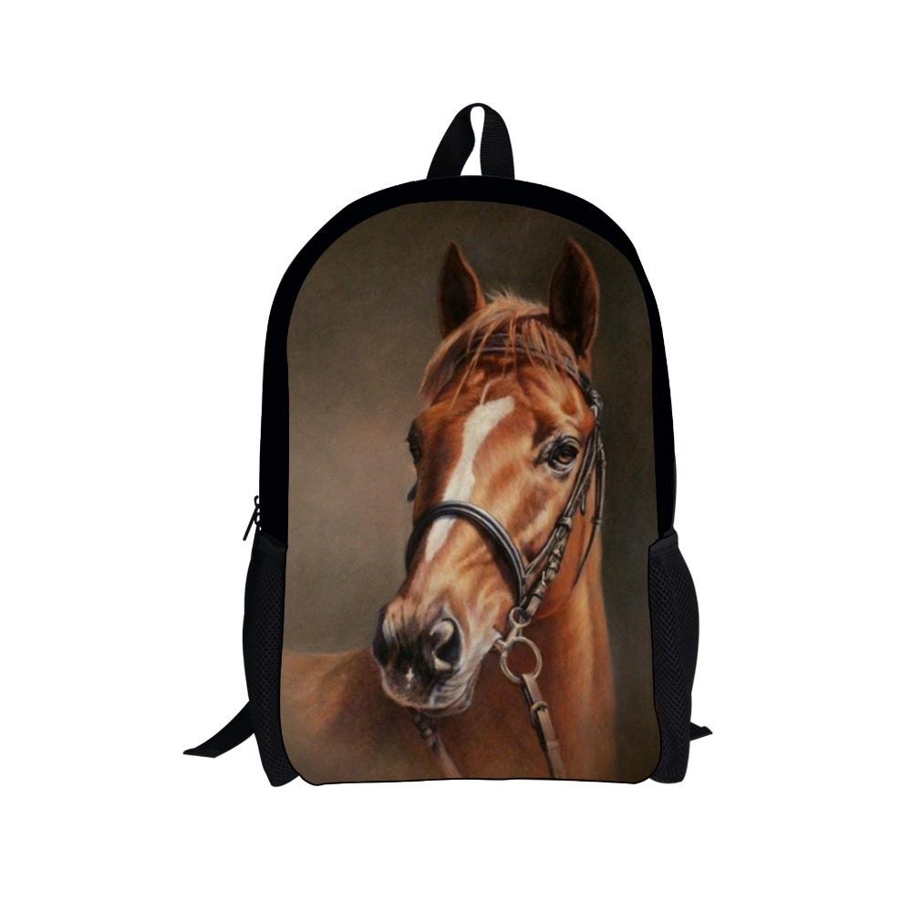 Vintage Style Horse Prints Children Backpack for Teenager Girls and Boys School bags,Mochila Masculina for Students Schoolbags