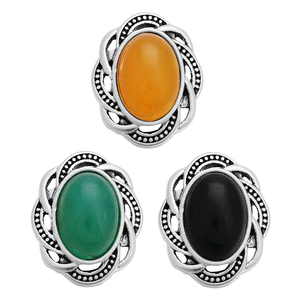 10pcs/lot 3 Colors Mixed 18MM Snap Button Jewelry Flower Snap Buttons Fit 18mm Snap Bracelet Bangle for Women Accessory