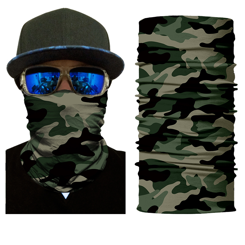DH Full Face Skull Mask Headband Headwear For Outdoor Camouflage Face Mask