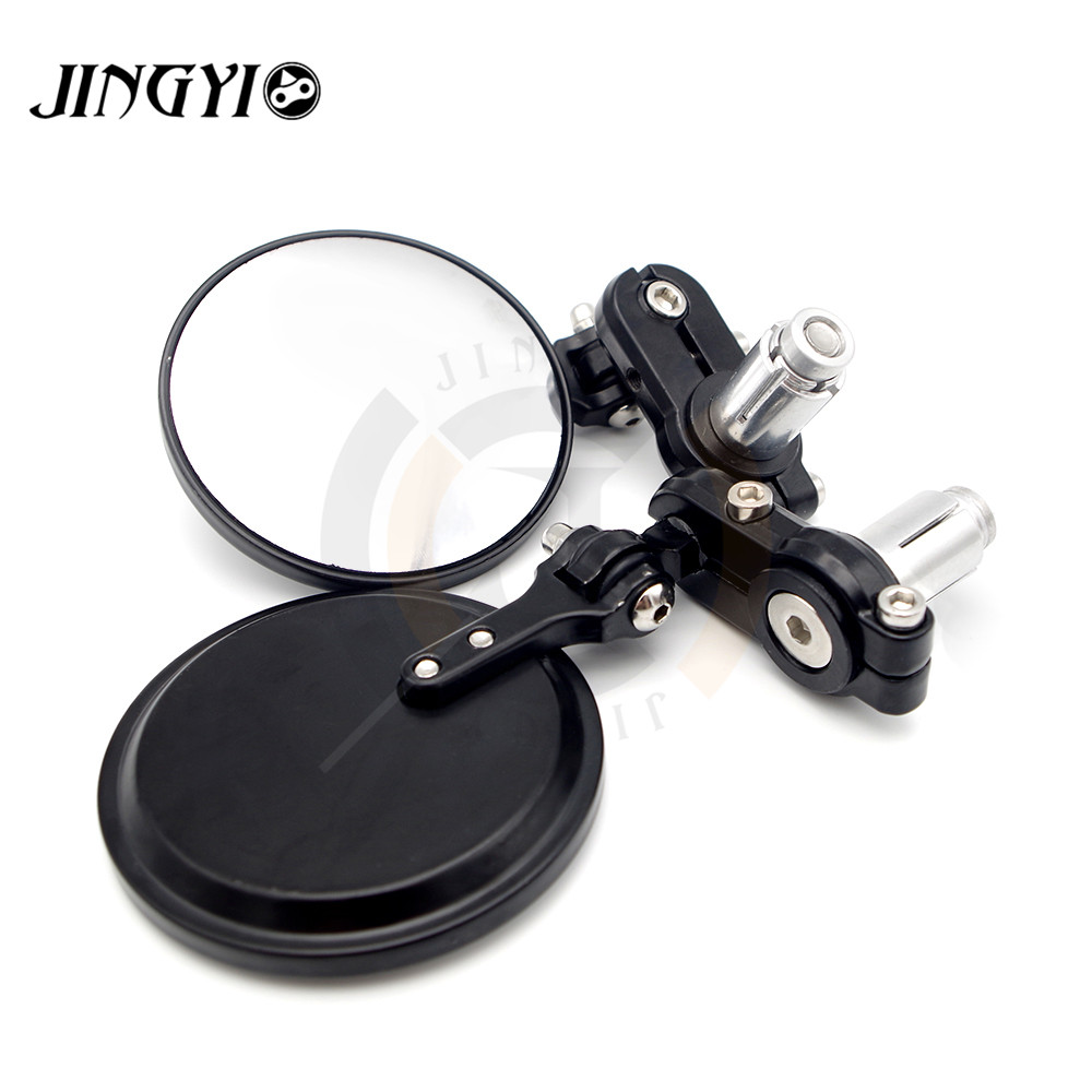Curved Motorcycle scooter handlebar End Mirrors Rearview Retro espejos specchietti moto FOR Yamaha Cafe Racer Harley Softails