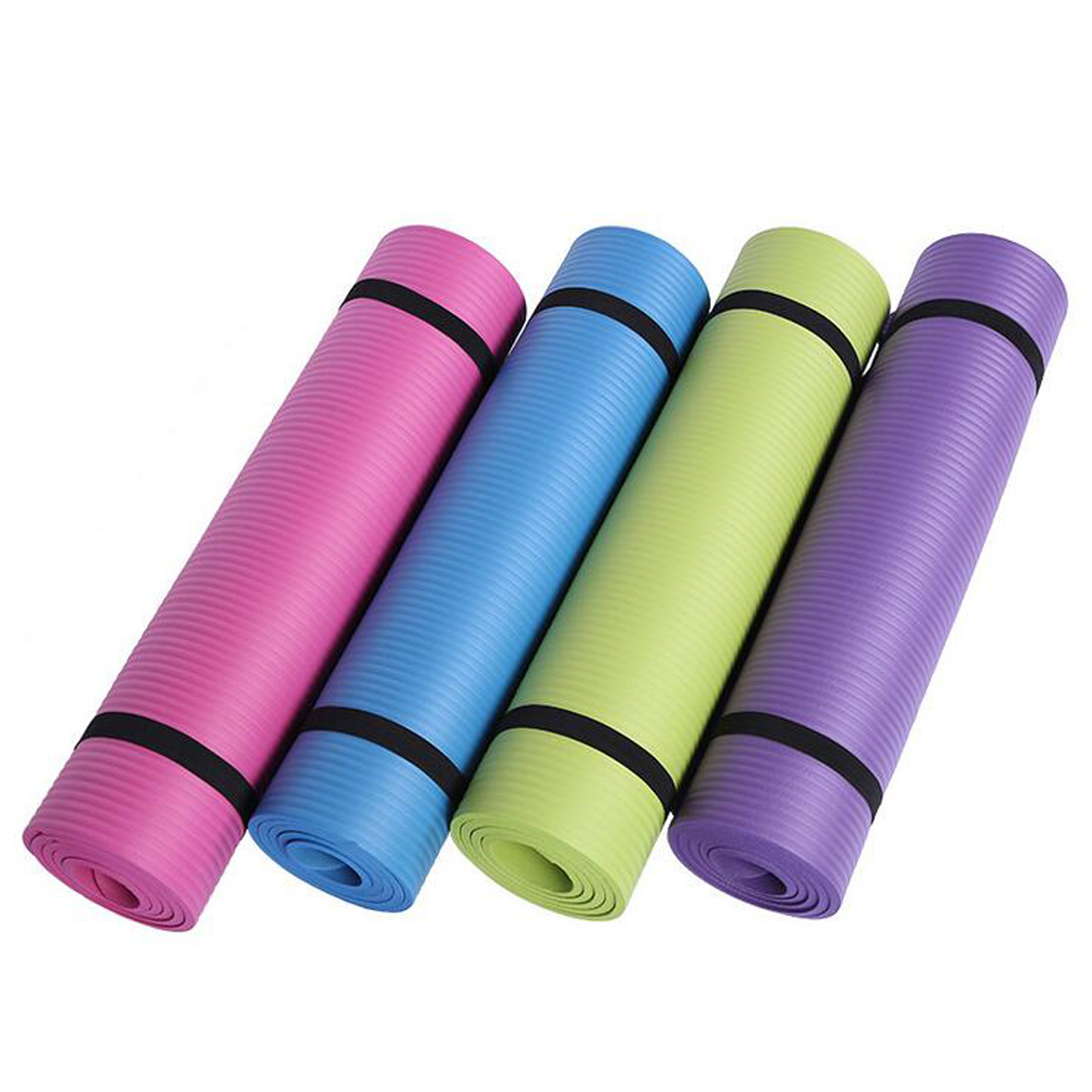 Acheter Tapis Pad Antidérapant Perdre Du Poids Exercice de Remise En Forme gymnastique de pliage tapis 10mm Épais exercice De Yoga de yoga yoga fiable fournisseurs
