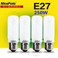 4 unids 250 W Flash de Estudio de iluminación bombilla E27 Lámpara de Modelado de montaje 220 v 4in1 set para fotografía de luz Estroboscópica softbox