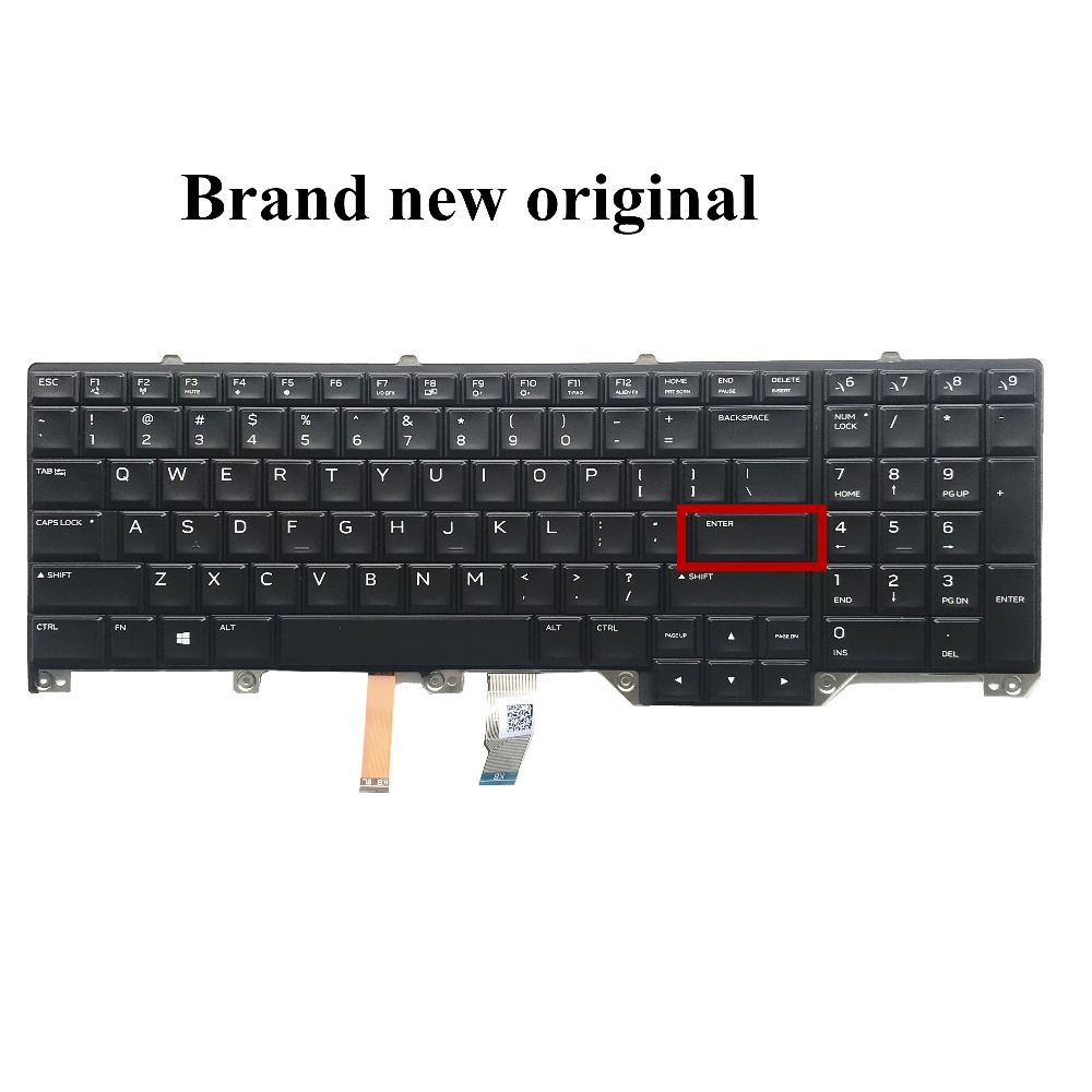 Brand New Original For Dell Alienware Series 17x R4 Laptop Keyboard Us English Cn-00wn4y 0wn4y 131qb1a00 With Backlight Matching In Colour
