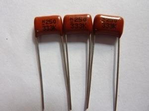 10pcs CBB capacitor 333 250V 333K 0.033uF 33nF P8 CL21 Metallized Polypropylene Film Capacitor
