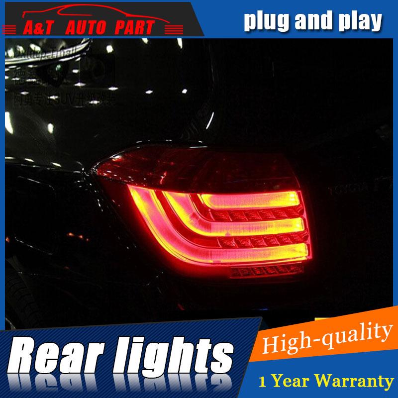 Авто.Pro для Тойота Хайлендер Тойота Хайлендер светодиодные задние фонари задние фонари 2012-2014 LED задний багажник противотуманный фонарь+сигнала автомобиля стайлинг