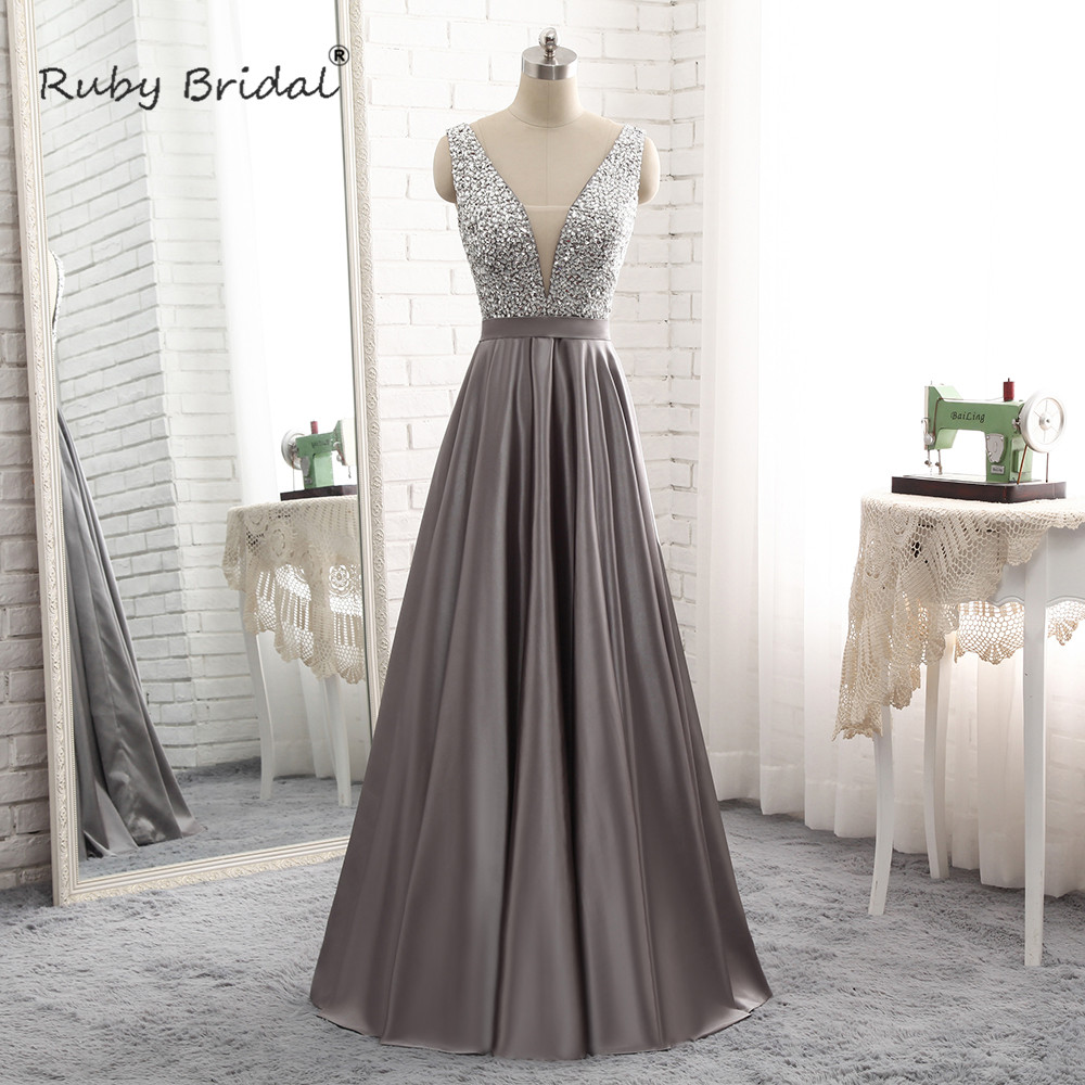 c3e5c1e3e01 Detail Feedback Questions about Ruby Bridal V Neck Sweep Train Beading  Crystal Tiered Pears Evening Gomn A Line Sleeveless Stain Cap Sleeve Prom  Dress WH008 ...
