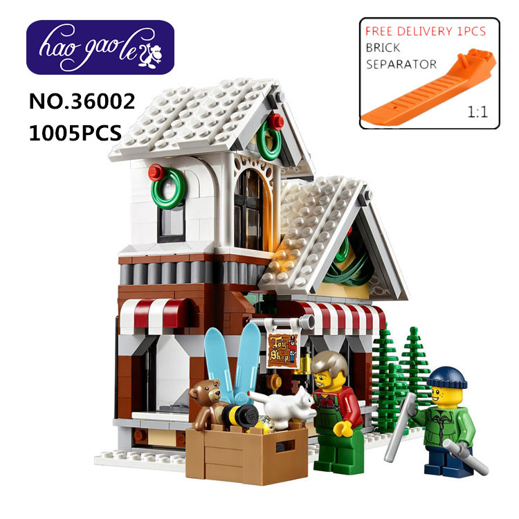 36002 1005Pcs Creative Series The Winter Toy Shop Set Building Blocks Bricks Educational Toys Christmas Gift 10249 lepin 36002 1005pcs street view series winter toy store christmas model building blocks set bricks toys for children gift 10249