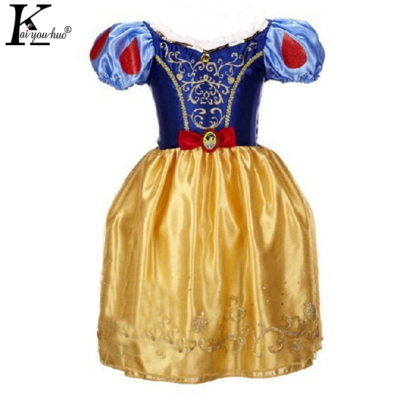 KEAIYOUHUO Girls Christmas Dress Summer Princess Snow White Dress Rapunzel Cinderella Dresses For Girls Costume Children Clothes qiu dong children dress long sleeved cinderella princess dress love sally dresses of the girls