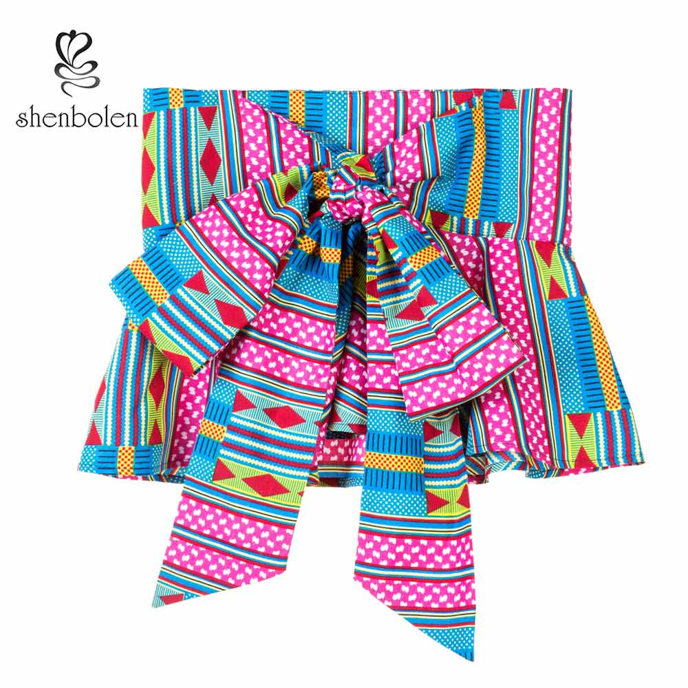 African Fashion Girdle Women Belt Female Individuality Ankara Printed Batik Belt Women Beautiful Wax Printing Batik Waistband