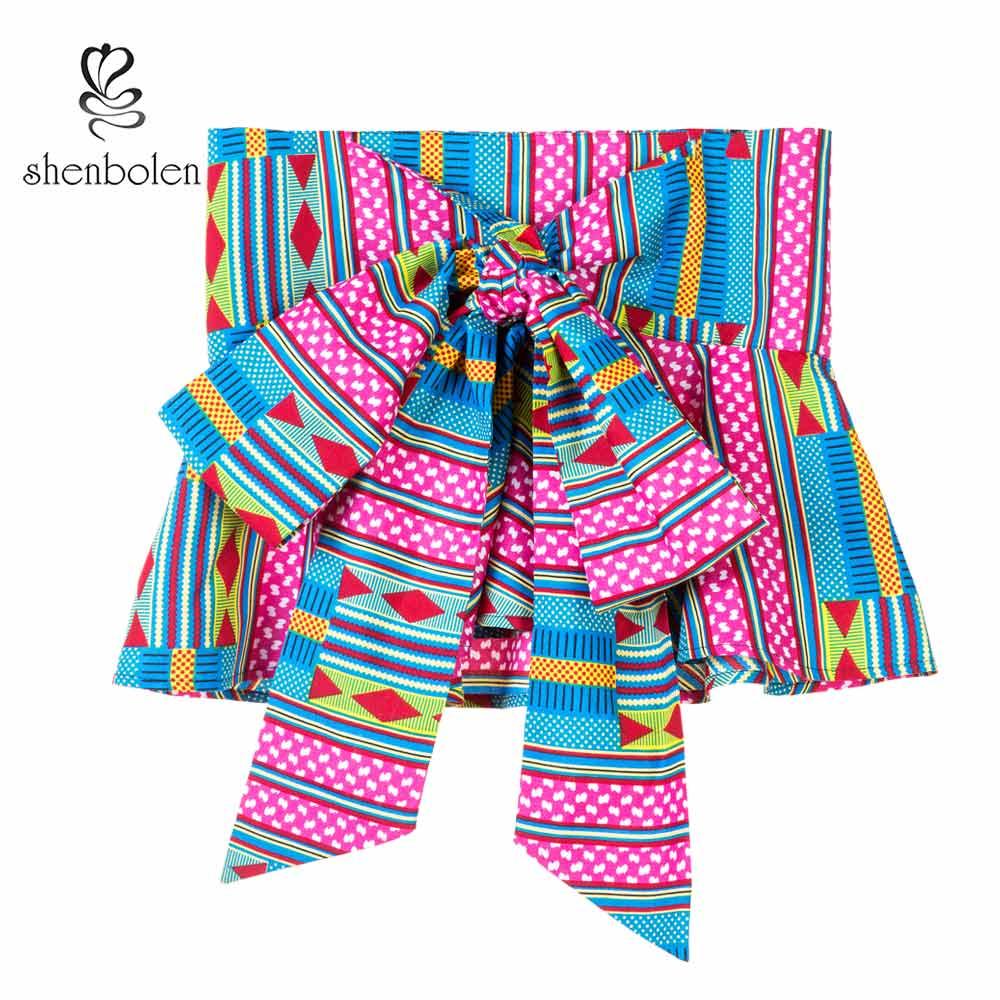 African Fashion Girdle Women Belt Female Individuality Ankara Printed Batik Belt Women Beautiful Wax Printing Batik Waistband