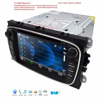 AutoRadio 2 Din 7 inch Car DVD Player For Ford Focus 2 S-Max C-Max Mondeo 4 Galaxy Kuga 2008-2010 GPS Car Multimedia Monitor DAB image