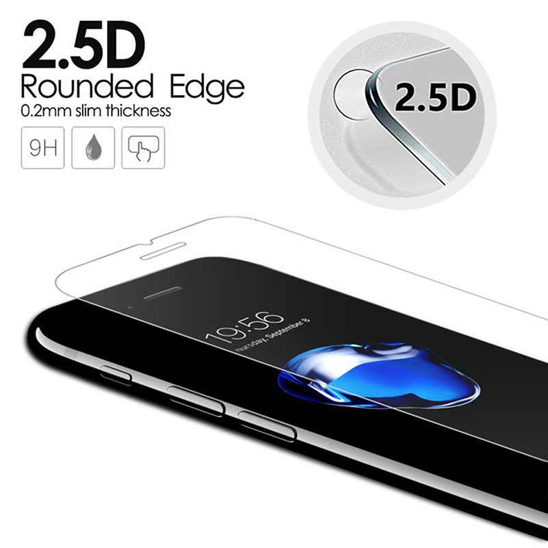 2 قطعة 2.5D فيلم الزجاج المقسى على آيفون 7 8 Plus XS ماكس XR 6 6S زائد 5 5s SE واقيات الشاشة الزجاجية آيفون 11 برو ماكس
