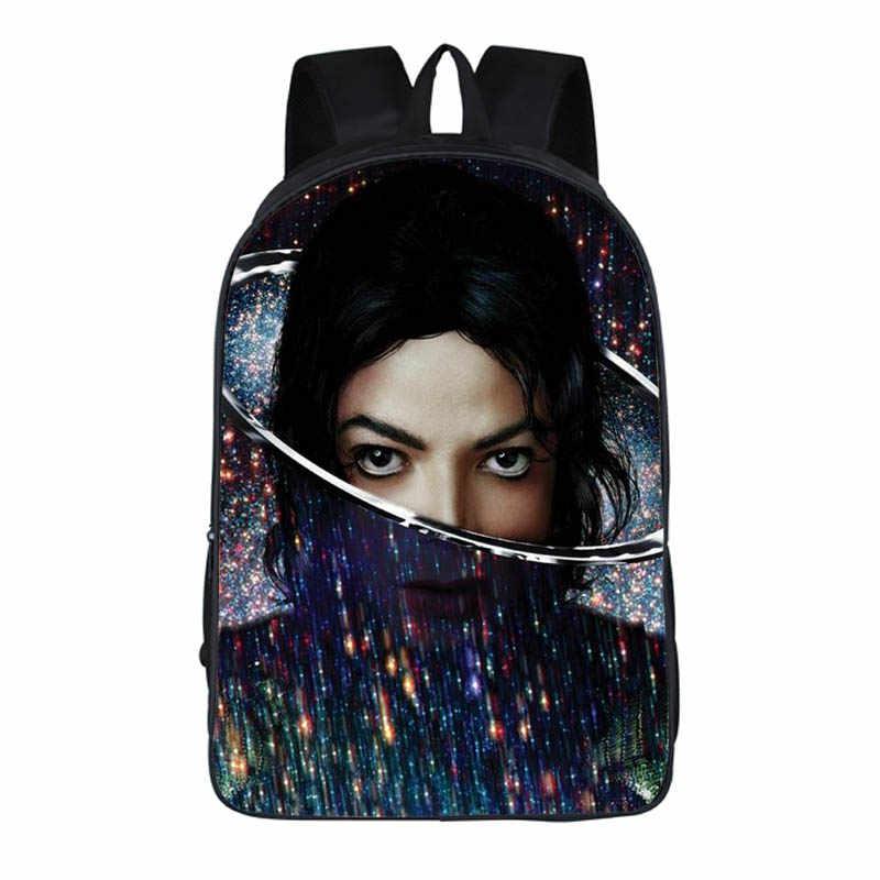 2 PC zestaw z piórnik plecaki studenckie kobiet DIY Michael Jackson drukowanie dzieci torby szkolne Mochila Feminina mężczyzn torba na książki