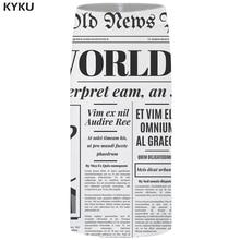 KYKU Brand Newspaper Skirts Women Word Sexy White Party Retro 3d Print Floral Pencil Ladies Womens Funny Korean