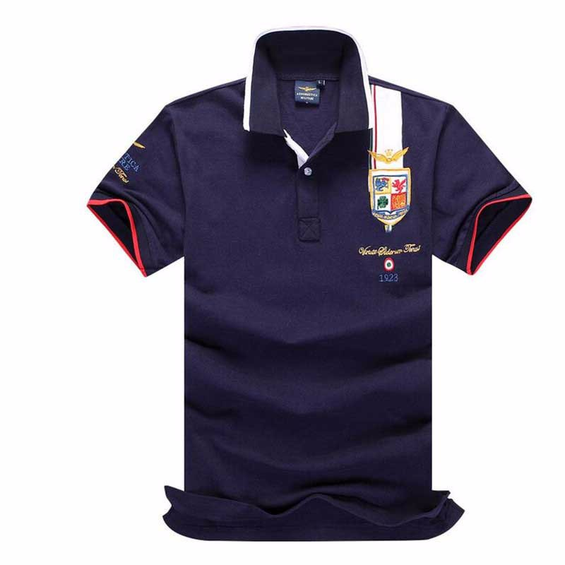 summer new men's boutique embroidery breathable 100% cotton   polo   shirt lapel Men's Air Force One   polo   shirt size S-XXXL