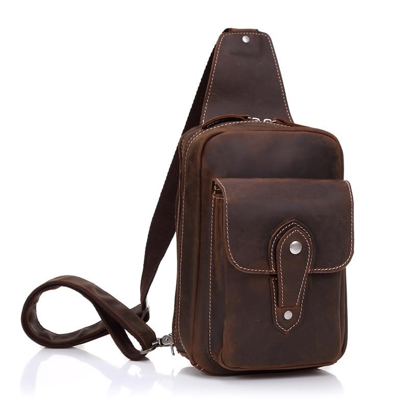 ФОТО 2017 New Vintage Men Bag Genuine Cow Leather Messenger Cross body Bag Sling Back pack