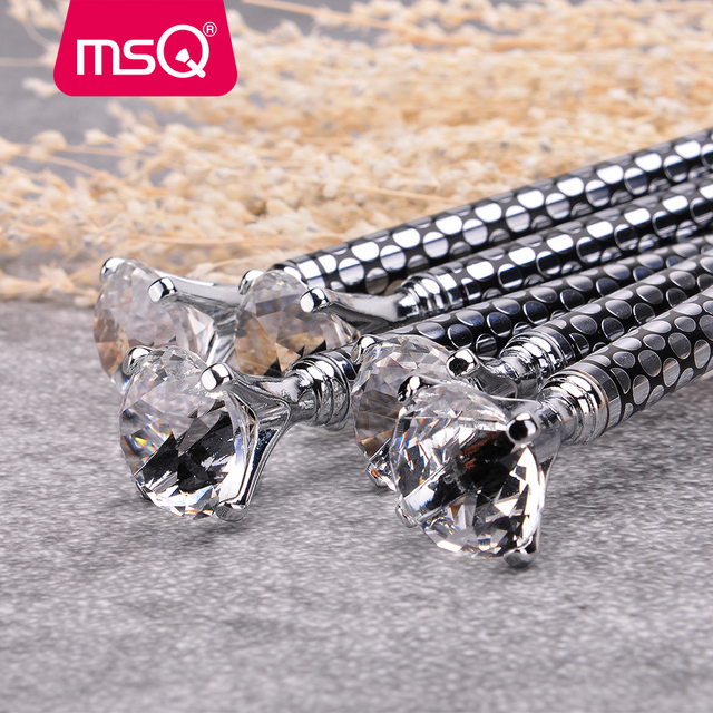 MSQ New 5pcs Eyeshadow Brush Set for Eye Eyeliner Blend Cosmetics Soft Synthetic Hair Diamond Make Up Brush Without Skin Hurt