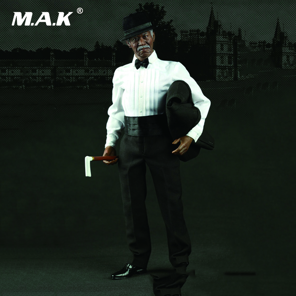 Morgan Freeman 1/6 Scale Full Set Action Figure Model Toys Weapon Expert Batman Wayne Company Adviser Model Gifts Collections 1 6 scale full set male action figure kmf037 john wick retired killer keanu reeves figure model toys for gift collections