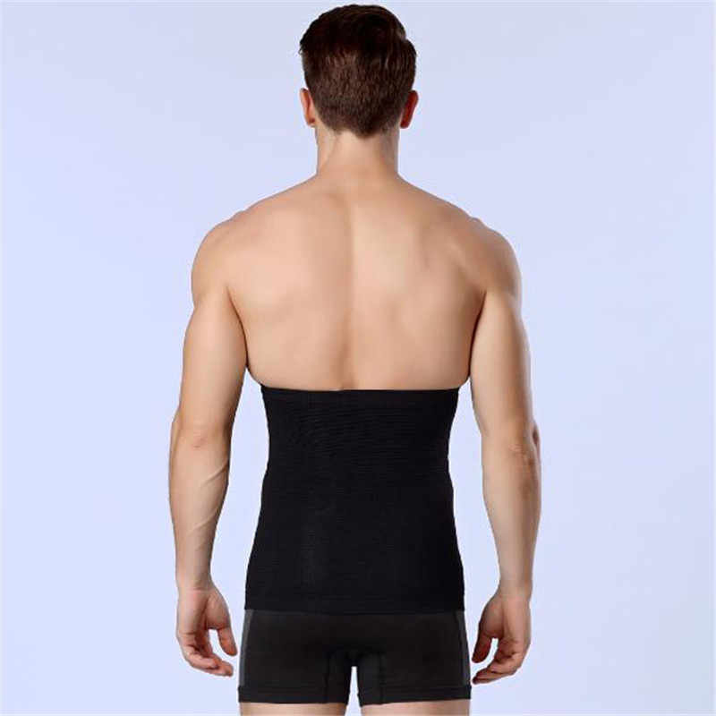 992a9182342db ... Men Slimming Belt Body Shaper Waist Trimmer Belt Corset Beer Belly Anti-cellulite  Massage Trainer