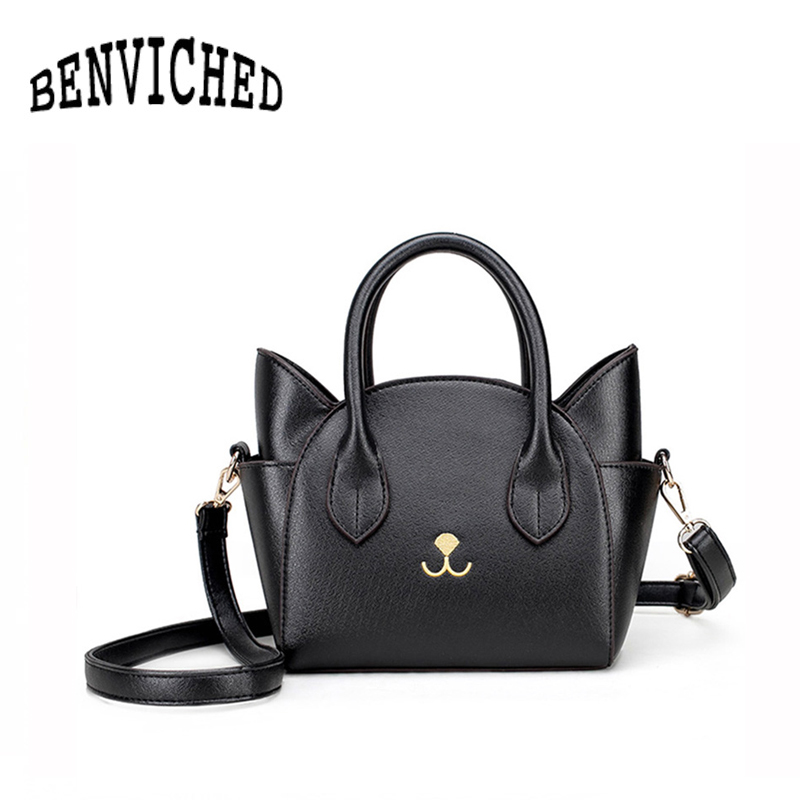 BENVICHED New shoulder bag female package toothpick pattern female package handbag Messenger bag cat wings bag R03