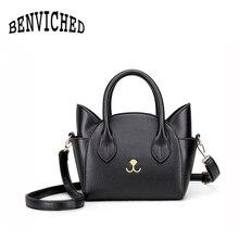 BENVICHED New shoulder bag female package toothpick pattern handbag Messenger cat wings R03