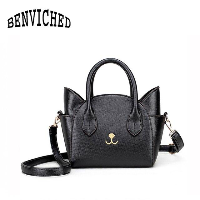 BENVICHED New shoulder bag female package toothpick pattern female package handbag Messenger bag cat wings bag R03