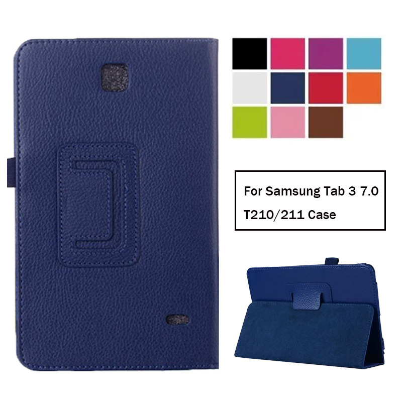 Case For Samsung Galaxy Tab 3 7.0 T210 T211  Leather Case Cover For Samsung Tab3 7.0 SM-T210 SM-T211 Case