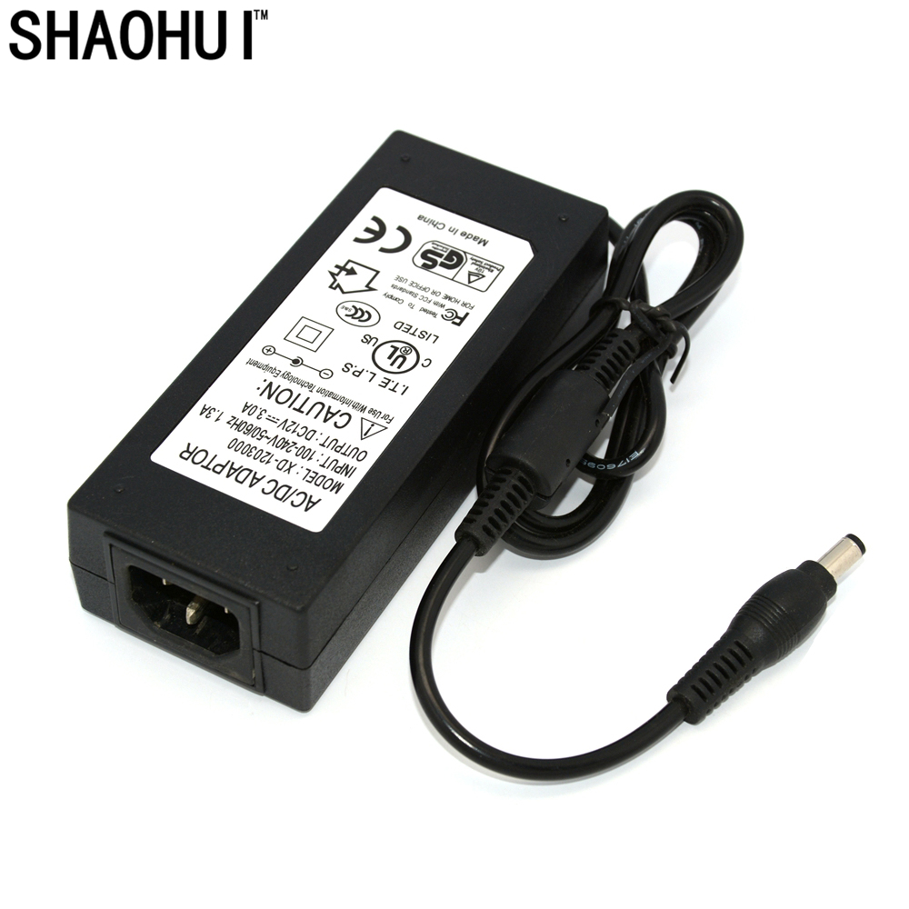 High Quality Universally Used AC Converter Adapter For DC 12V 3.0A LED Power Supply Charger for 5050 3528 SMD Light LCD CCTV lowest price new ac converter adapter for dc 12v 5a 60w led power supply charger for 5050 3528 smd led light or lcd monitor cctv